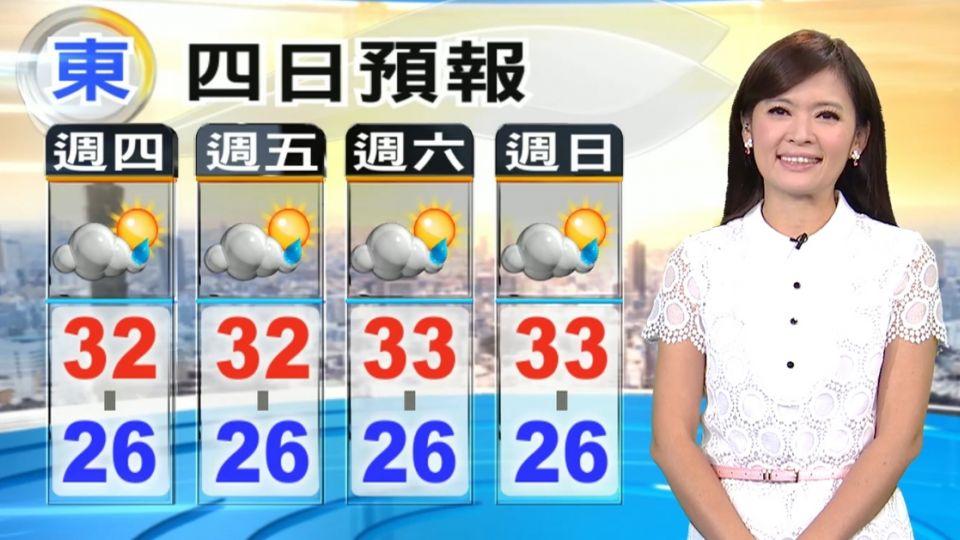 【2016/08/18】冷心低壓出現 不穩定 對流劇烈 易暴雨