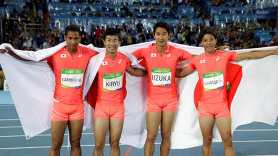奧運男子400接力賽 日本摘銀破亞洲紀錄