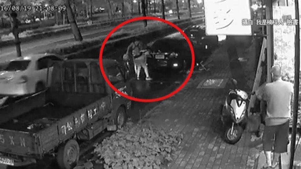 轎車停路邊車格遭撞 學生騎單車闖禍落跑