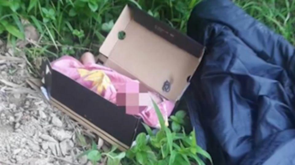 驚!男嬰裹毛巾放鞋盒 遭棄置山區裡
