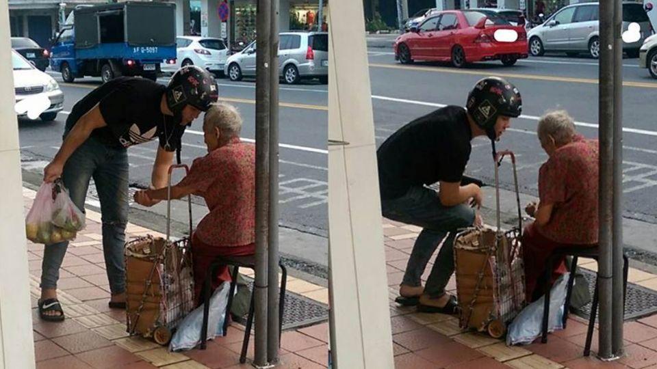 一口氣買「2大袋芭樂」!暖男騎士:阿嬤,雨天別出來賣