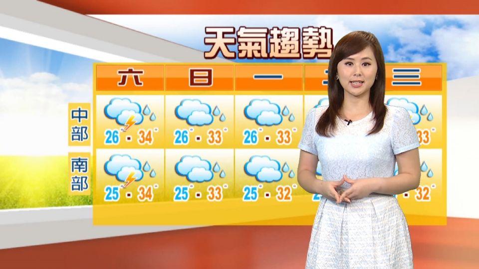 加強防曬要帶傘 北間歇陣雨中南部午後雨