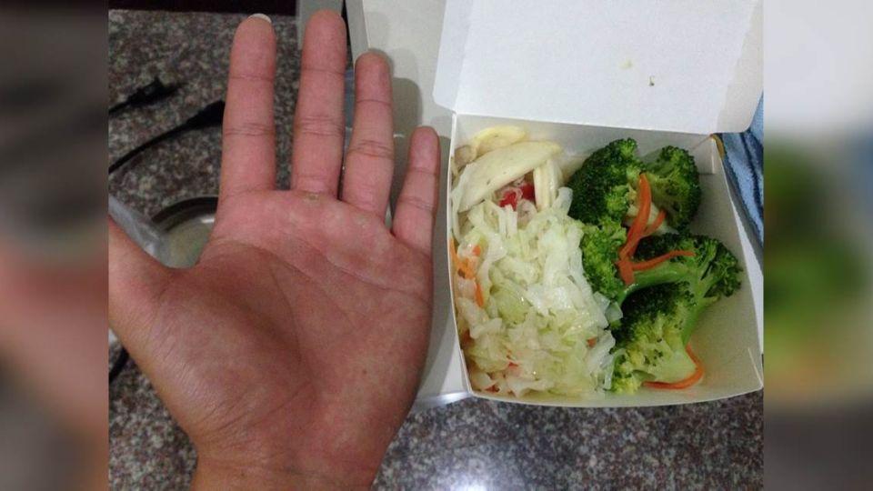 太坑了!「巴掌大」菜盒100元 網友神解:你肯定長不帥