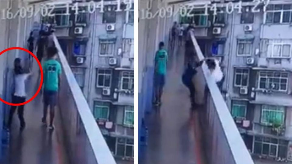 2女校園疑爭男友墜樓 奪命時刻曝光