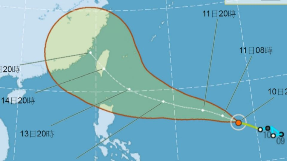 第14號颱風莫蘭蒂下午生成 中秋節不排除登陸