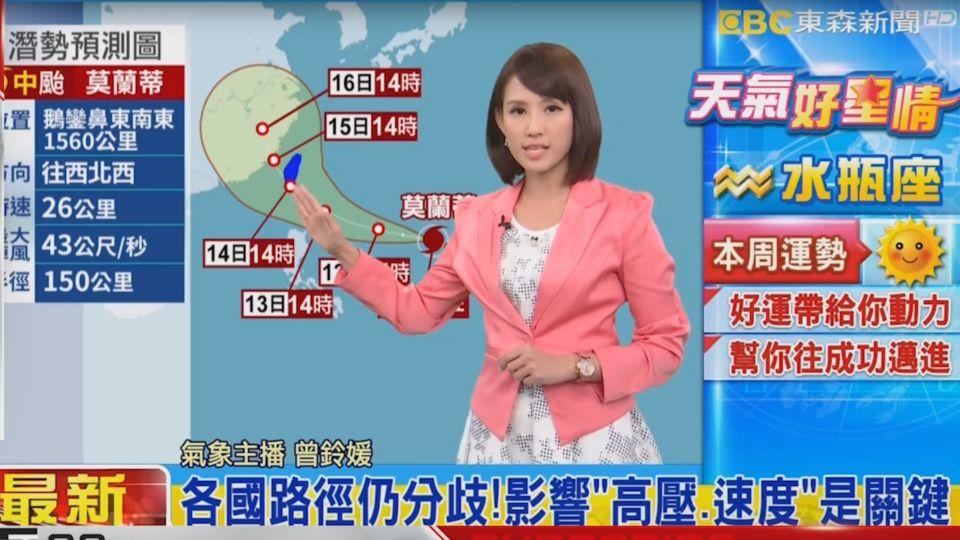 【2016/09/11】中颱莫蘭蒂擾中秋!周三周四距台最近