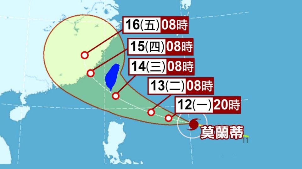 莫蘭蒂亂中秋 不排除變強颱 今晚11:30前發海警