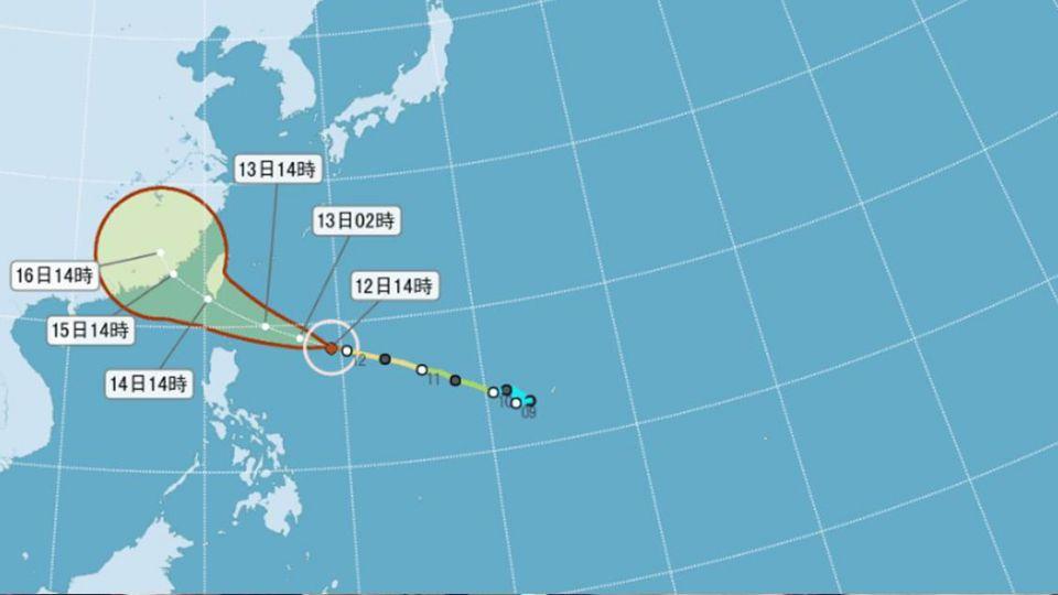 莫蘭蒂轉強颱!氣象局路徑南修 南部、東部警戒
