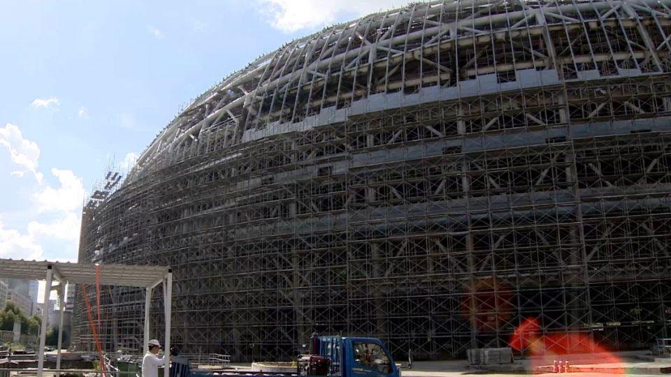 莫蘭蒂襲南台 大巨蛋施作7防颱工程