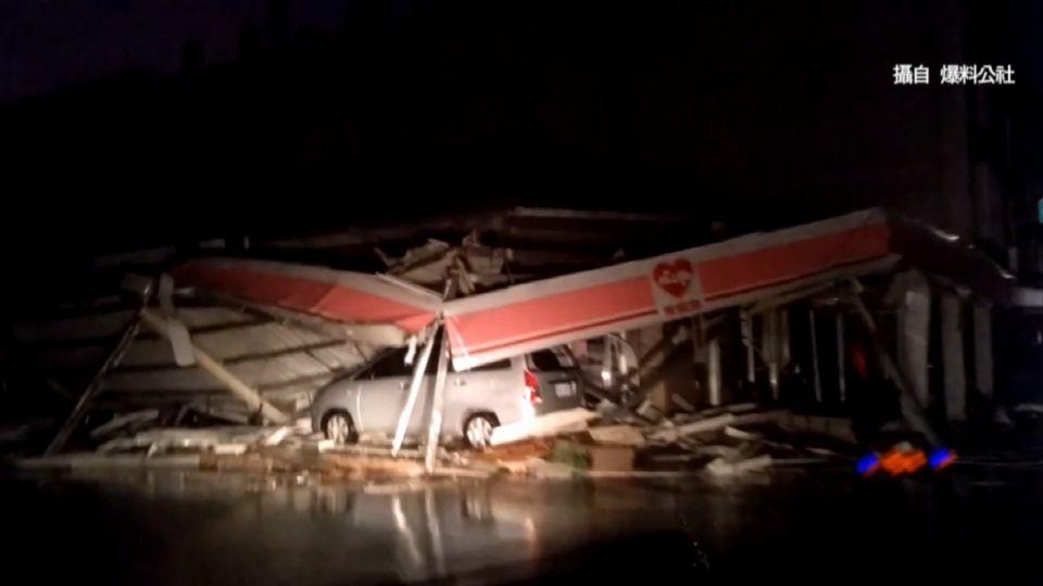 莫蘭蒂狂風暴雨肆虐 超商像被轟炸如廢墟