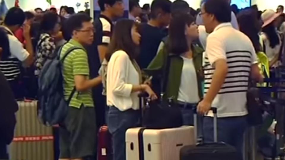 中秋連假第1天 9成航班恢復 桃機擠滿遊客