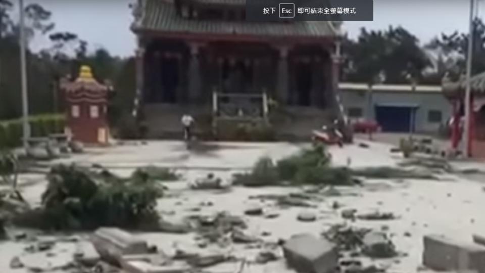 金門17年最慘!古蹟媽祖廟牌坊全毀「剩4根柱子」