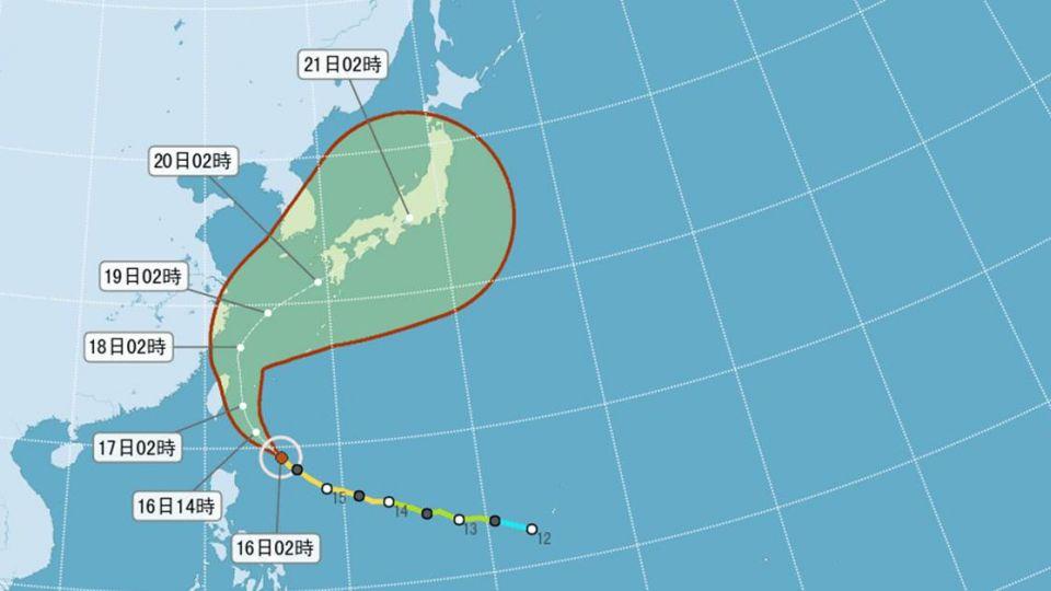 中颱馬勒卡逼近北台灣 8:30發布陸上颱風警報