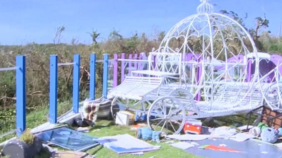 東森獨家探小琉球 海巡署屋頂被掀宛如廢墟