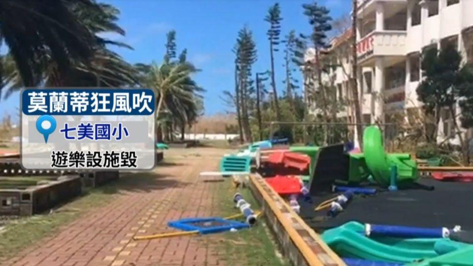強颱猛颳14級強風! 澎湖七美島慘重災