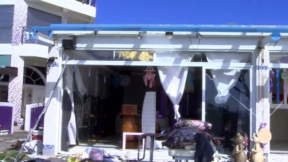慘! 颱風狂掃 小琉球海巡署宛如廢墟