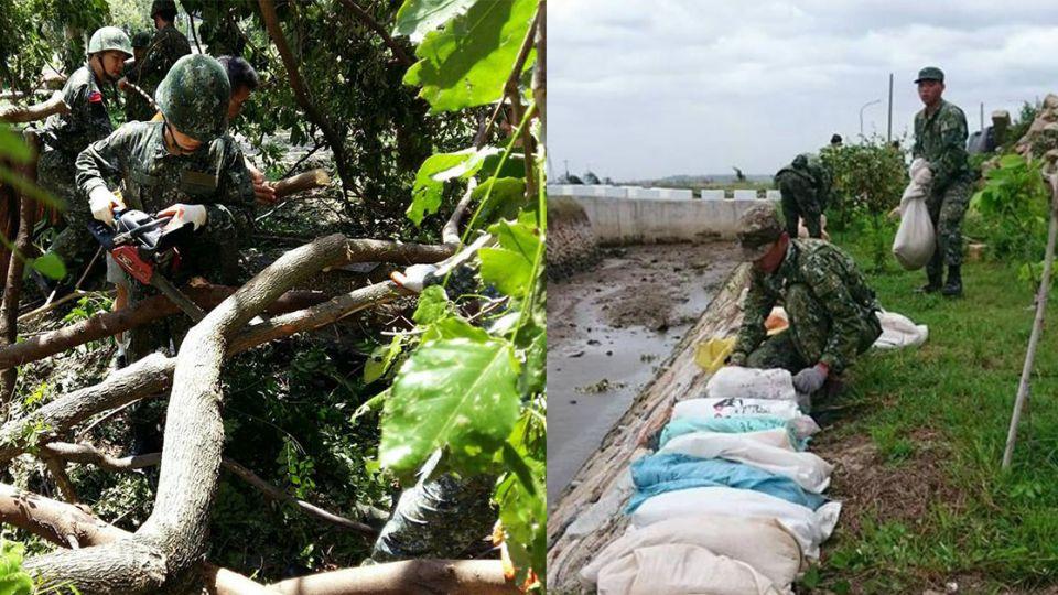 國軍救災停電停水仍「堅守崗位」 民宿業者:歡迎來休息