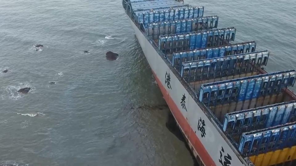 中國貨輪油染古崗岸際 航港「留6船工」向船東求償