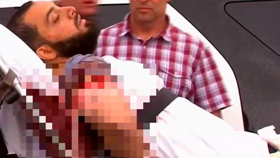 落網了!紐約爆炸案嫌犯 與警槍戰右肩中彈戒護送醫