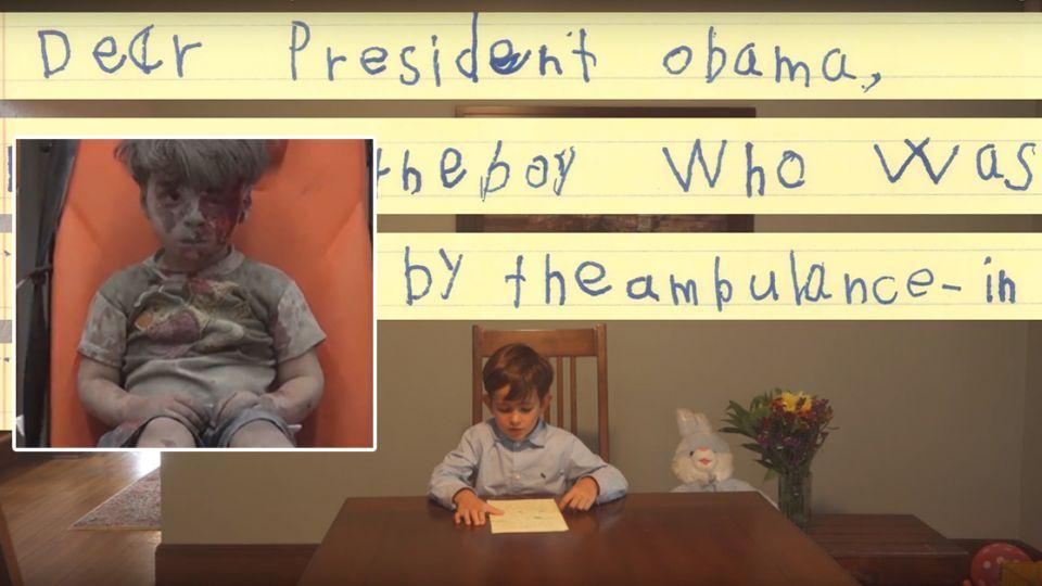 【影片】6歲童寫信給歐巴馬:我要當他哥哥,教他算數學!