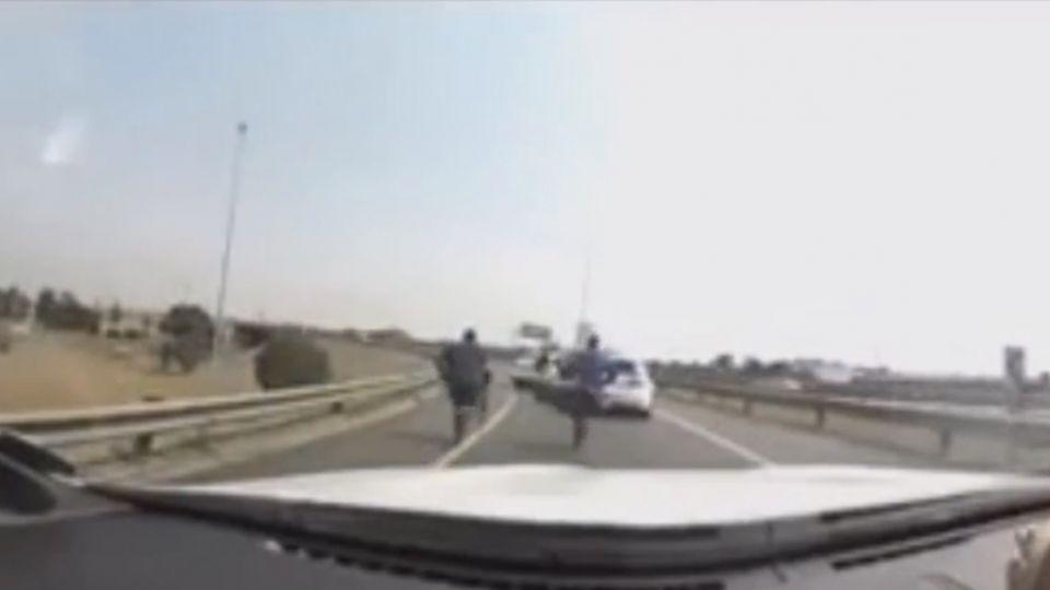 網傳台灣人南非被搶 直擊兩槍手國道行搶