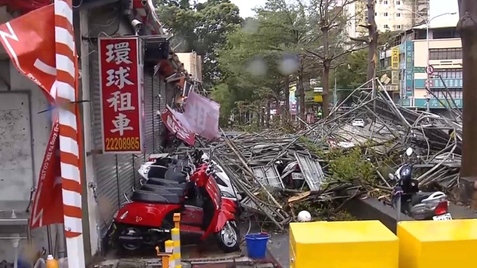 悚!「鋼鐵雨」砸毀60租賃機車 財損300萬