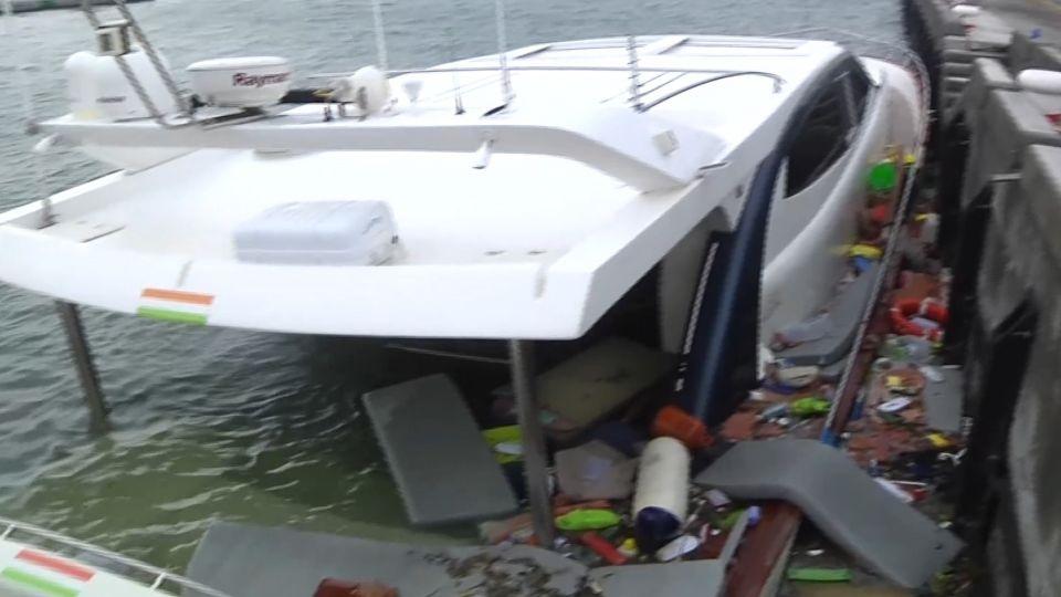 五千萬「泡水」 大浪撞沉遊艇 船主心痛