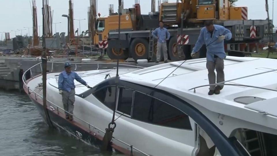五千萬遊艇被吹毀 修船費估兩千萬