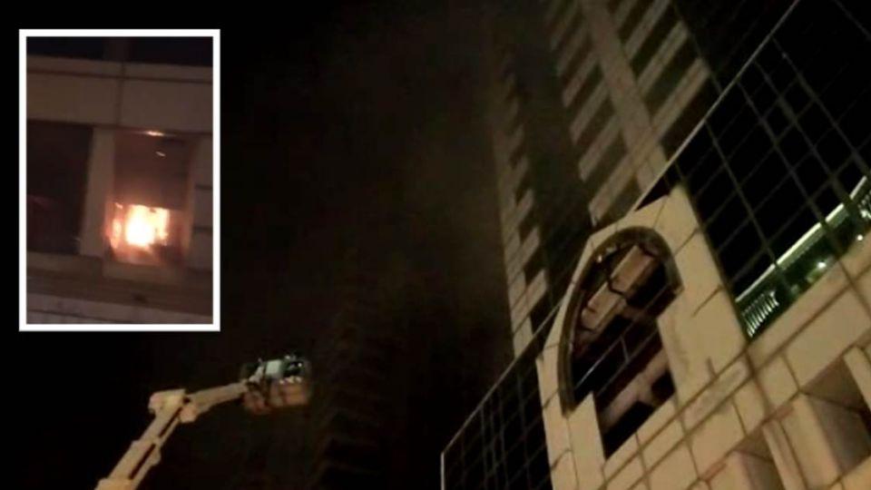 台南安平區23層高樓大火 疏散百人搶救