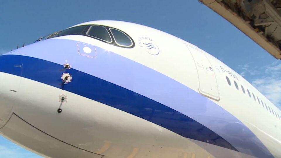 首架A350客機抵台!業者布局歐洲航網