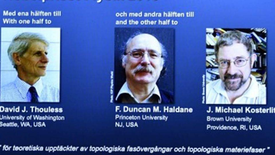 諾貝爾物理學獎 3英國出生學者獲獎