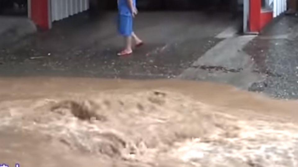慘!綠色隧道淹成「黃河」 卑南鄉地面龜裂