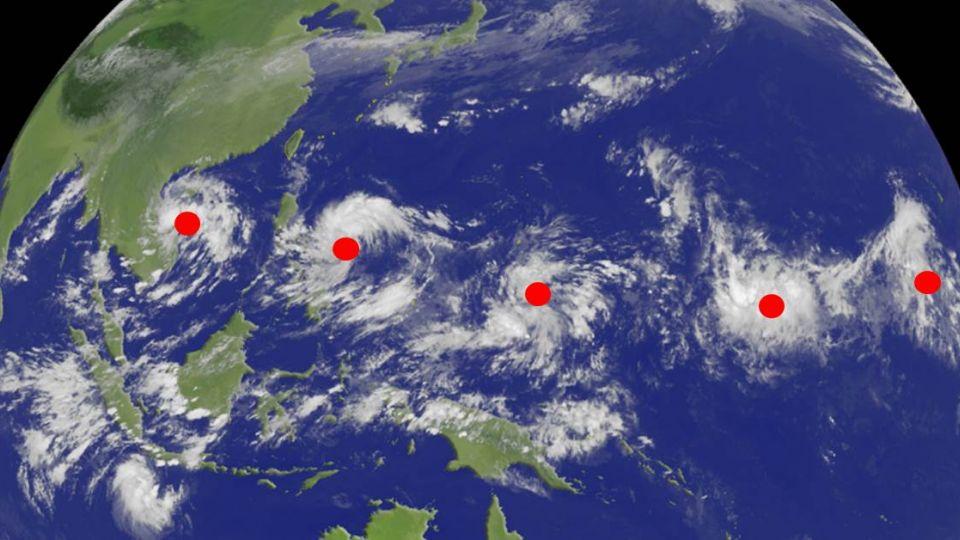 太平洋現5氣壓系統排排站 氣象專家:有的會靠近台灣