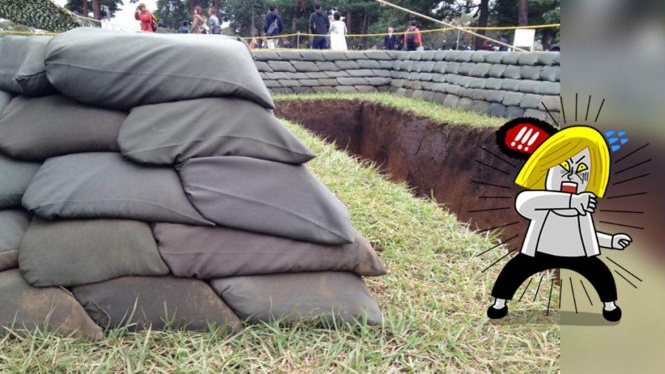 超狂!日本自衛隊這樣堆沙包 網友驚嘆:尺量出來的吧