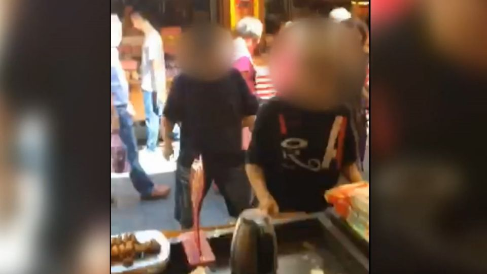 金山老街店家遭恐嚇 男砸店嗆「要不要關門」