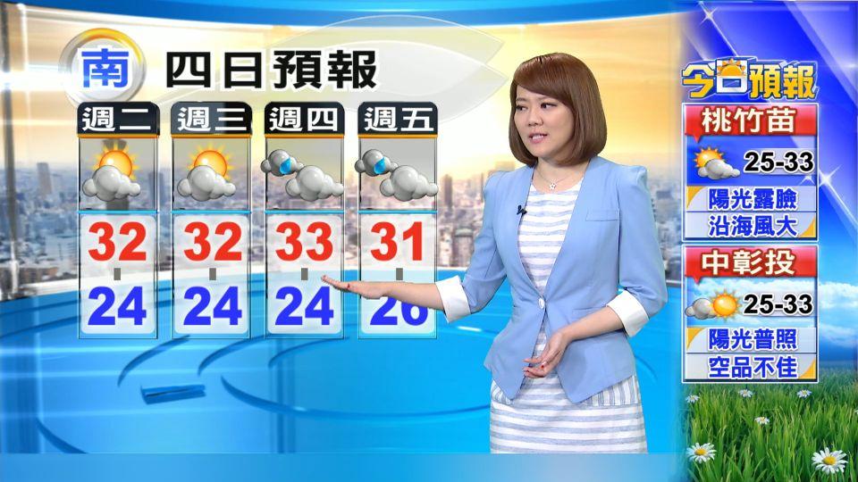 【2016/10/18】兩個颱風之間 今天氣穩定 基宜防大雨