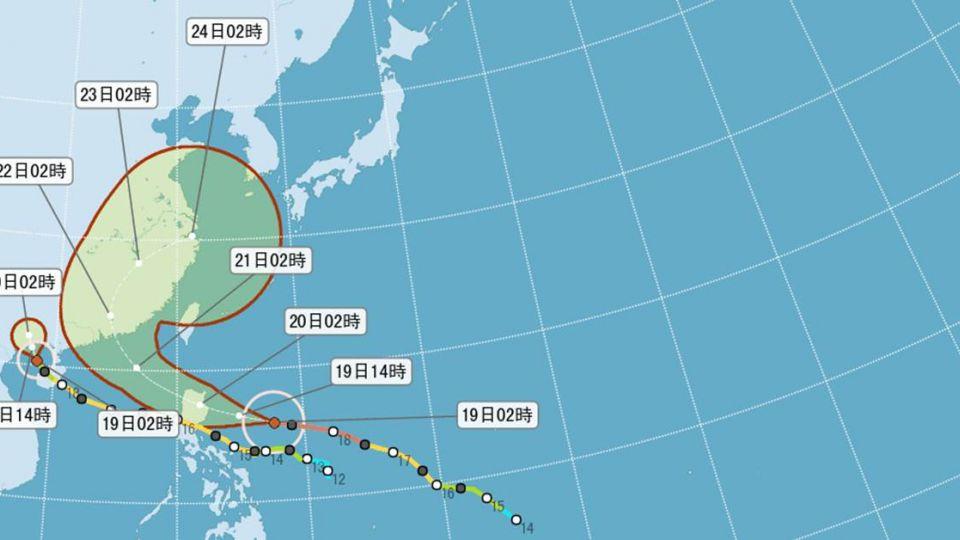 強颱海馬僅「路過」台灣家門外 路徑大轉彎 海警機率大減