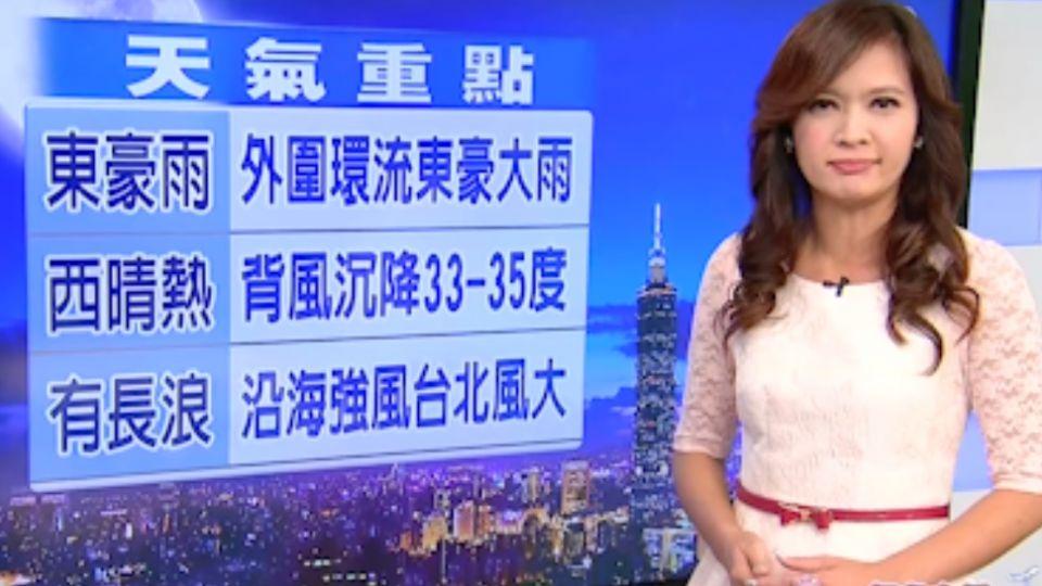 【2016/10/19】海馬襲菲 台灣東西兩樣情 東豪雨 西晴熱