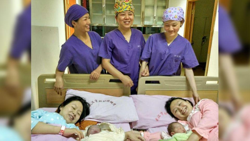 神巧合!雙胞胎姊妹同天生產 連寶寶都一樣重