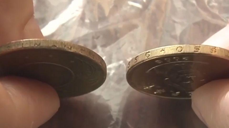 50元銅板疑偽幣 國父睜大眼像戴「放大片」