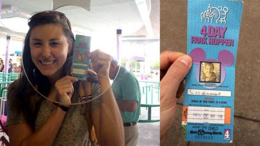 封存22年的迪士尼門票 園方反應讓她驚呆