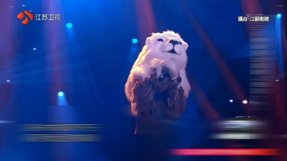 品冠疑扮獅王唱「蒙面」 網友:不會窒息嗎?