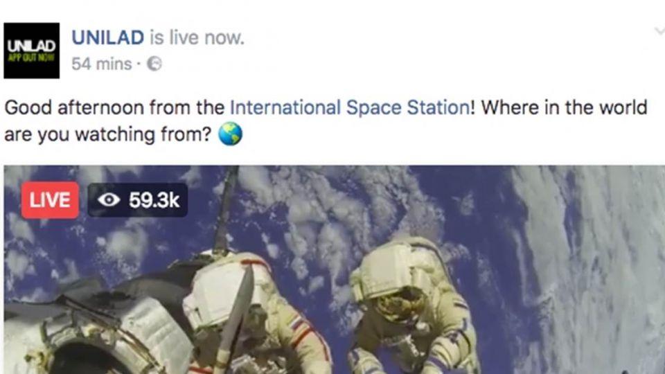 臉書直播「國際太空站」NASA打臉:假的 百萬網友心碎了