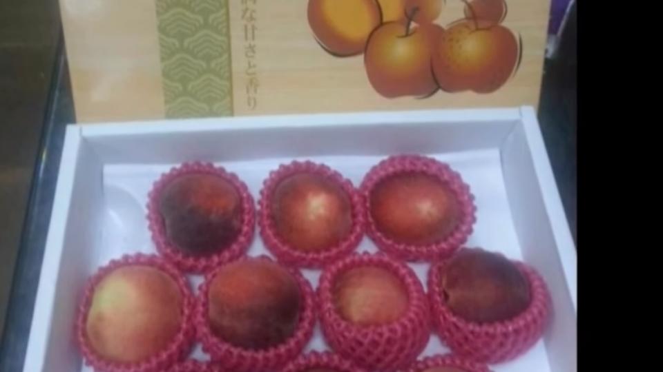 再槓農產公司 段宜康po照「加州桃裝日本桃」