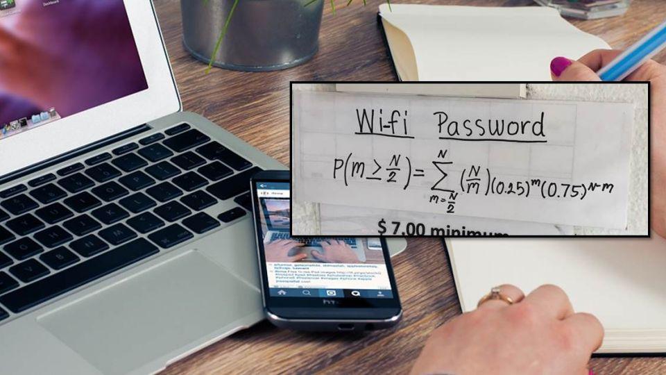 想連免費Wi-Fi?餐廳貼超難「數學題」 解開才能連