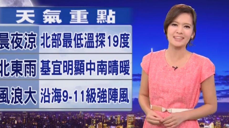 【2016/11/01】入秋首波東北季風 今晚-明晨北台探19度