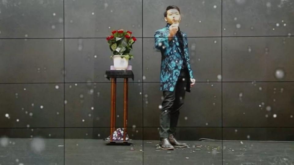 魔術搭擴增實境技術 台北車站「下雪了」