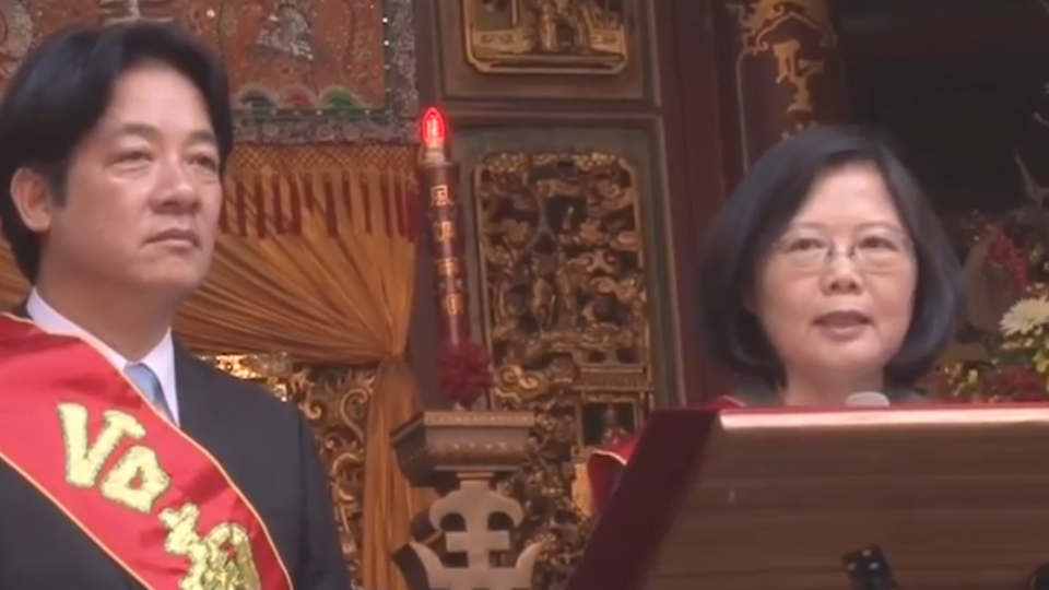 南下天后宮贈匾 總統:政府要關心人民關心的事