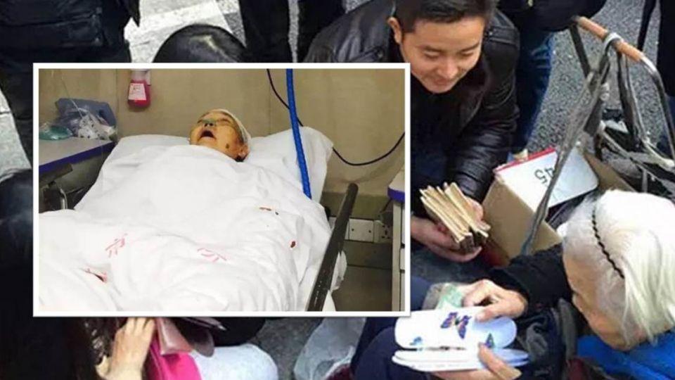 93歲奶奶路邊賣鞋墊 無故遭雙截棍打爆頭陷昏迷