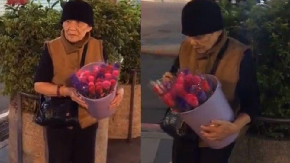 《予馨採訪日記》83歲婆婆寒風中賣香皂玫瑰! 只為中風兒